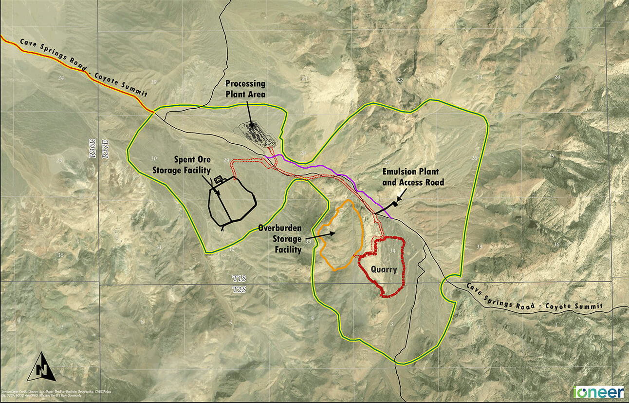 Mining Extraction Map